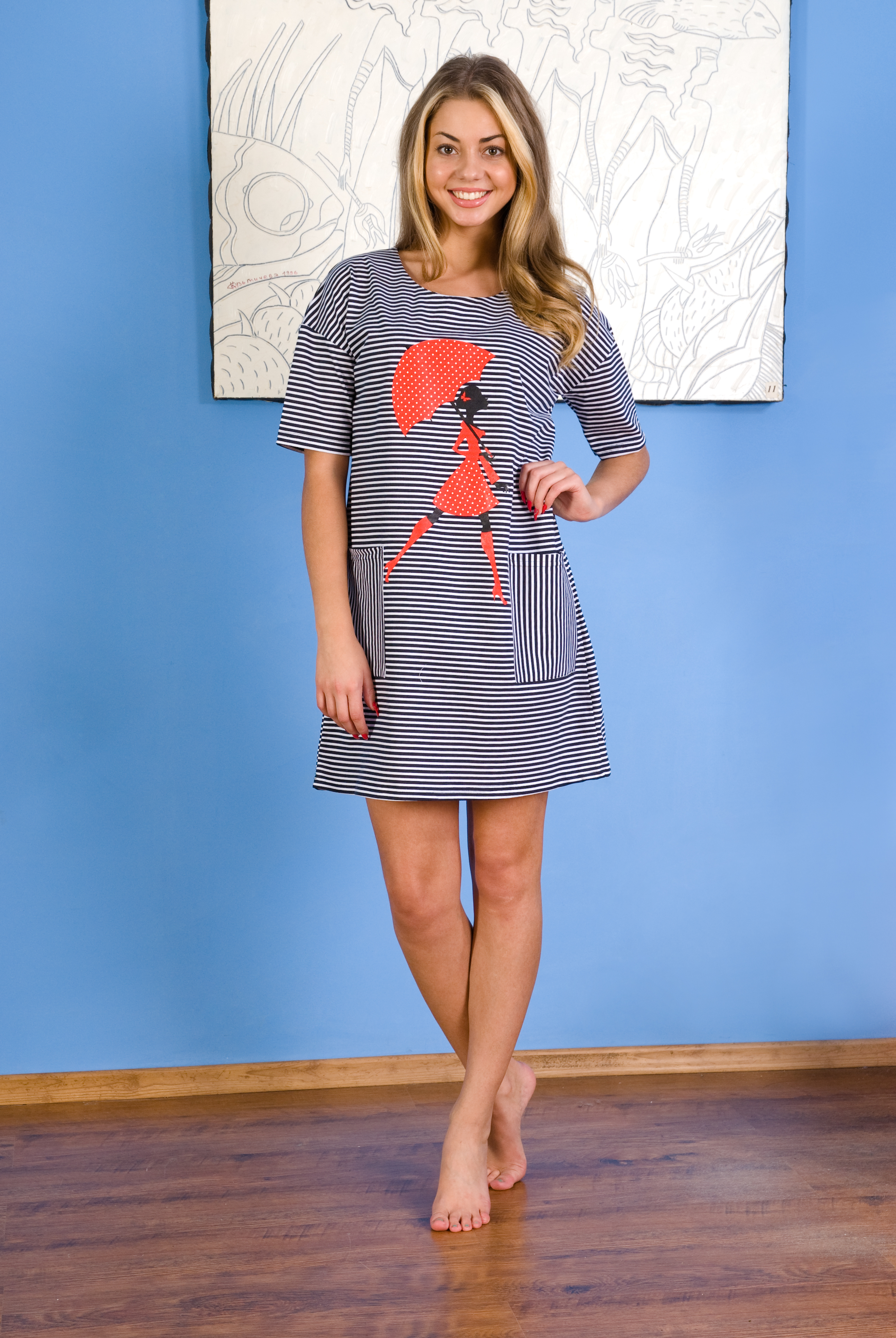 Туника женская Шер с коротким рукавомТуники<br><br><br>Размер: 50