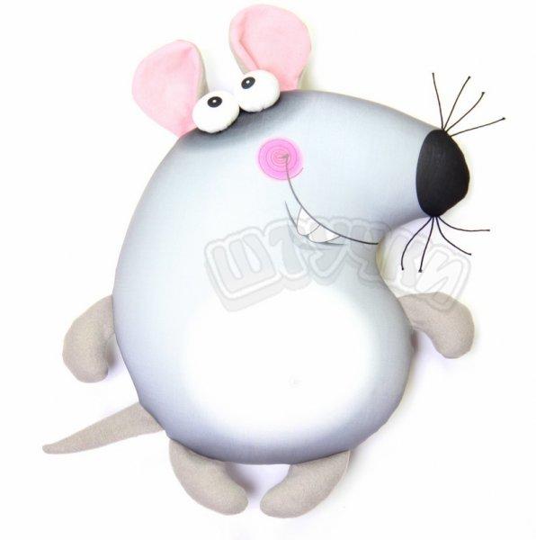 Антистрессовая игрушка-подушка  крыса ПучеглазыДетские подушки-антистресс<br><br><br>Размер: 35х29