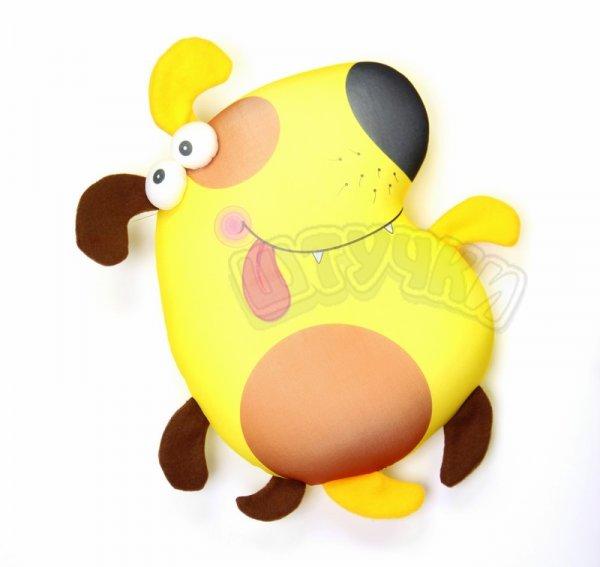 Антистрессовая игрушка-подушка  собака ПучеглазыПодарки на День рождения<br><br><br>Размер: 35х29
