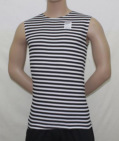 Безрукавка мужская полосатая чернаяФутболки<br><br><br>Размер: 48