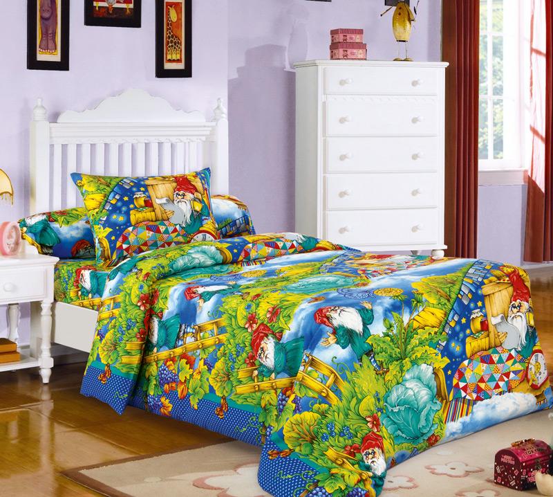 Комплект постельного белья ГномикиДетское постельное белье<br><br><br>Размер: 1.5сп (2 нав.70х70)