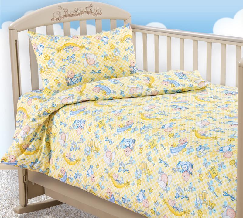 Комплект постельного белья Карапуз 1ясельныйДетское постельное белье<br><br><br>Размер: Детский 112х147 (1 нав.40х60)