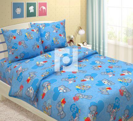 Комплект постельного белья МишуткиДетское постельное белье<br><br><br>Размер: 1.5сп (2 нав.70х70)