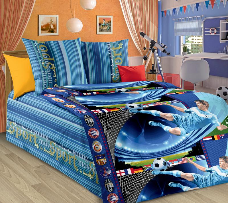 Комплект постельного белья ПенальтиДетское постельное белье<br><br><br>Размер: 1.5сп (2 нав.70х70)