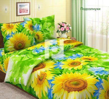 Комплект постельного белья ПодсолнухиБязь<br><br><br>Размер: 1,5 спальный