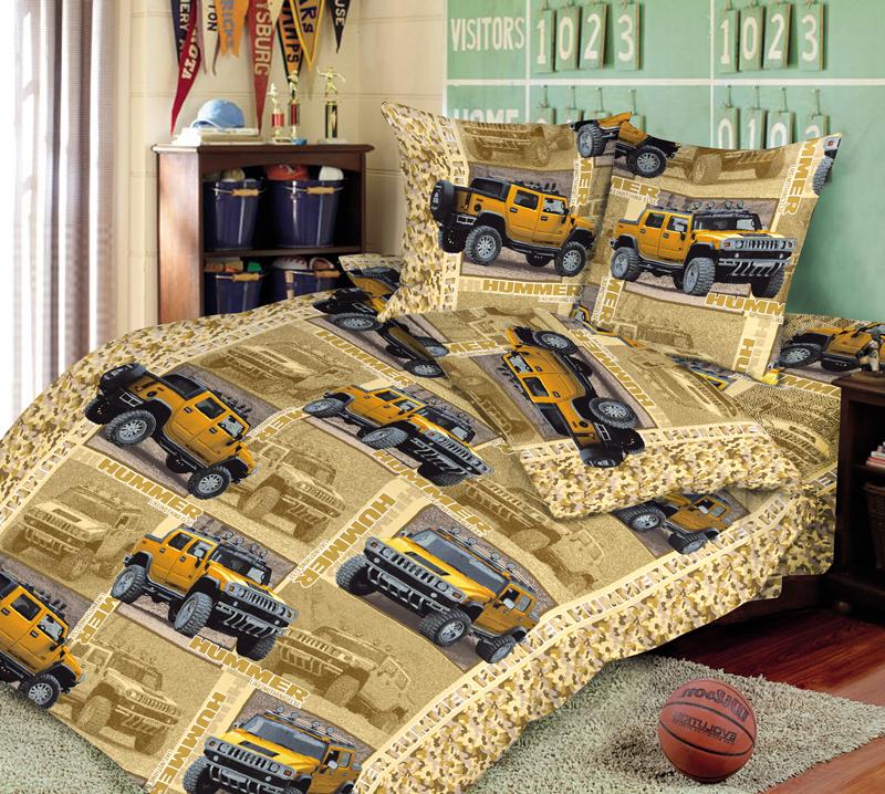 Комплект постельного белья СафариДетское постельное белье<br><br><br>Размер: 1.5сп (2 нав.70х70)