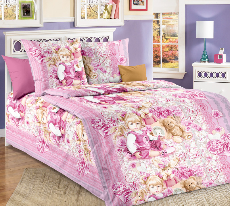 Комплект постельного белья СьюзиДетское постельное белье<br><br><br>Размер: 1.5сп (2 нав.70х70)
