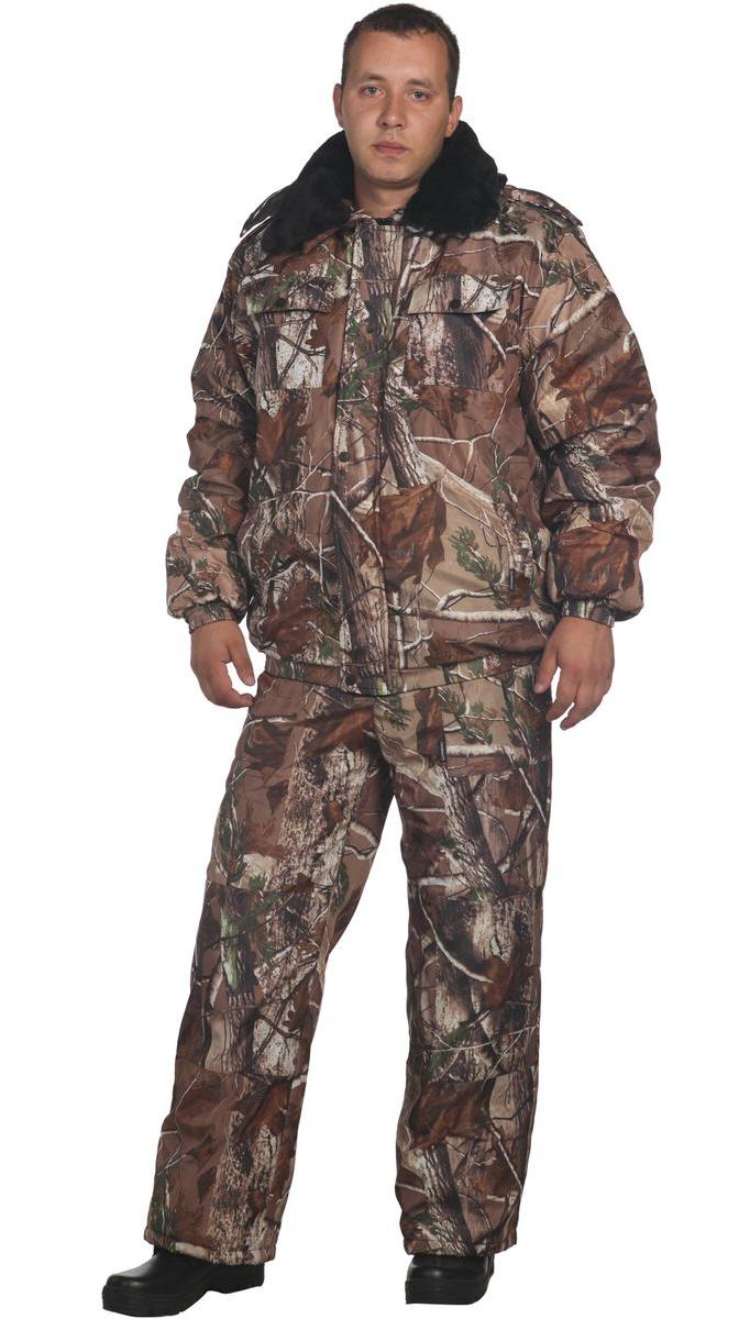 Костюм мужской Вихрь-Д утепленный без капюшона на молнии с длинным рукавомОдежда для охоты и рыбалки<br><br><br>Размер: 120-124/182-186