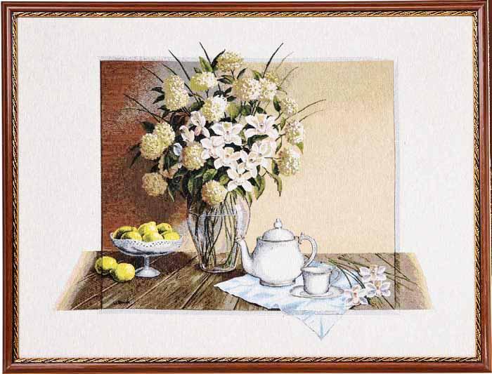 Картина гобеленовая в багете Полуденный чай (в рамке)Подарки на День рождения<br><br>