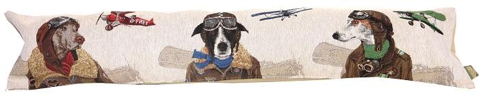 Наволочка гобеленовая с собаками прямоугольная Лётный клубПодарки на День рождения<br><br>