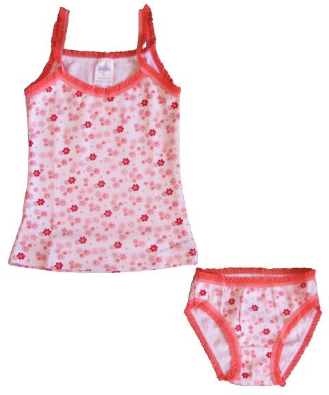 Комплект для девочки (майка-топ на брительках + трусики)Костюмы, комплекты одежды<br><br><br>Размер: 28