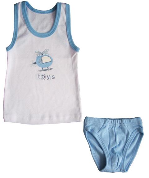 Комплект для мальчика Вертолет майка и трусикиКостюмы, комплекты одежды<br><br><br>Размер: 24 (рост 80 см)