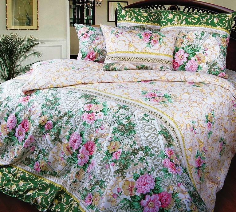 Комплект постельного белья Римский дворикПеркаль<br><br><br>Размер: 1,5сп. (2 нав.70х70)
