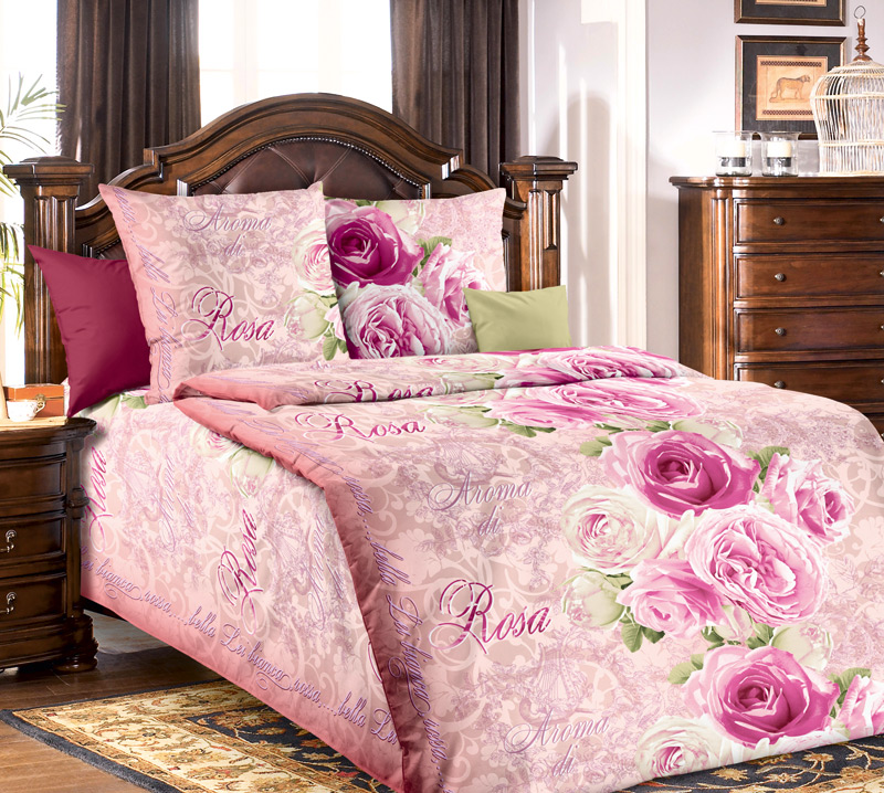 Комплект постельного белья Аромат розыБязь<br><br><br>Размер: 1.5сп (2 нав.70х70)