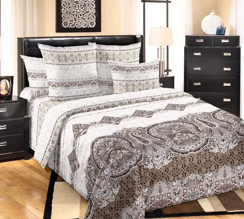 Комплект постельного белья БеллаПеркаль<br><br><br>Размер: 2сп. с европростыней (2 нав. 70х70)