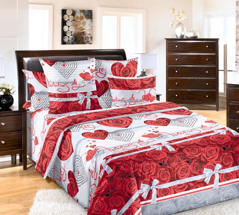 Комплект постельного белья КомплиментПодарки к 8 марта<br><br><br>Размер: 2сп. с европростыней (2 нав. 70х70)