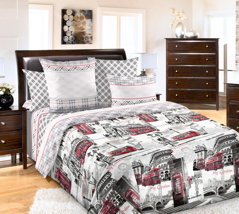 Комплект постельного белья ЛондонПеркаль<br><br><br>Размер: 1,5сп. (2 нав.70х70)
