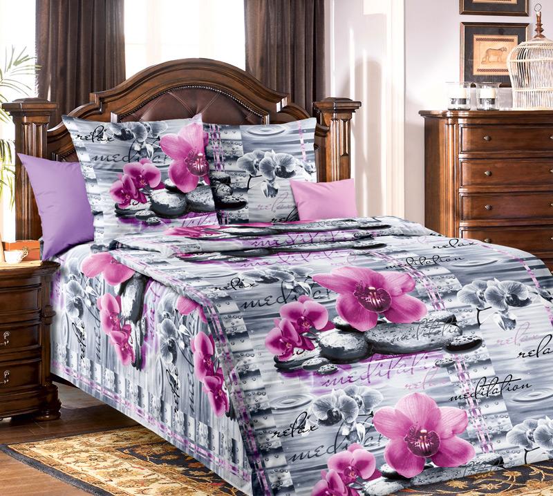Комплект постельного белья ОрхидеяБязь<br><br><br>Размер: 1.5сп (2 нав.70х70)