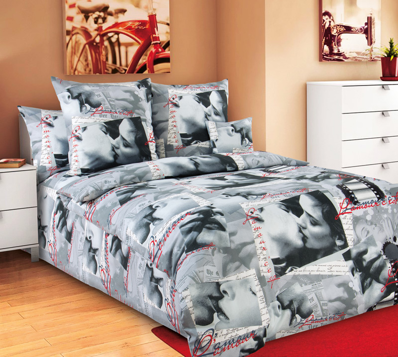 Комплект постельного белья СвиданиеБязь<br><br><br>Размер: 1.5сп (2 нав.70х70)