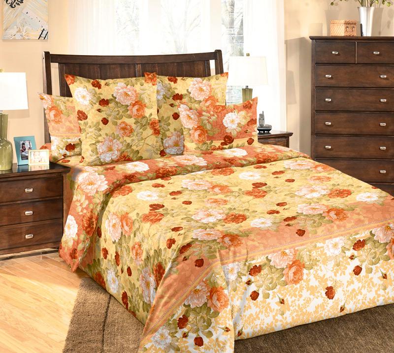Комплект постельного белья Теплый деньБязь<br><br><br>Размер: 2сп с европростыней (2 нав.70х70)