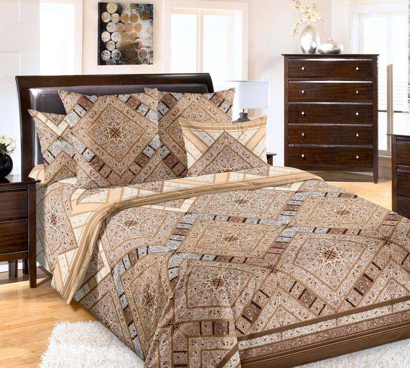 Комплект постельного белья ТасканаПеркаль<br><br><br>Размер: 2сп. с европростыней (2 нав. 70х70)