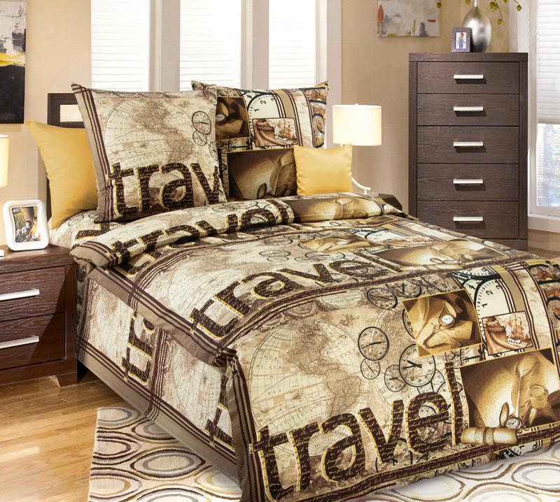 Комплект постельного белья ТревэлБязь<br><br><br>Размер: 1.5сп (2 нав.70х70)