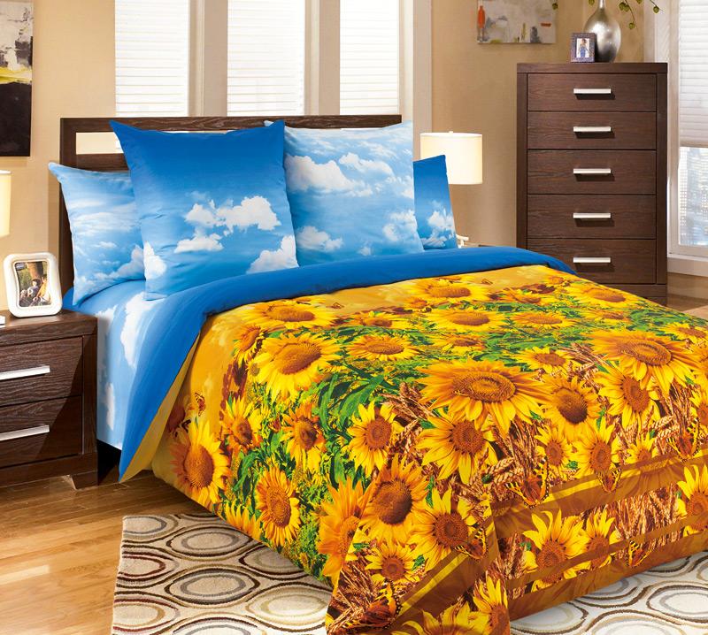 Комплект постельного белья ЗарницаПеркаль<br><br><br>Размер: 2сп. с европростыней (2 нав. 70х70)