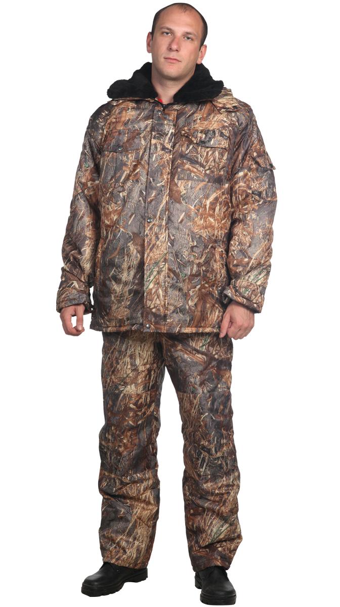 Костюм мужской Рыбак утепленный без капюшона на молнии с длинным рукавом штаны комбинезонОдежда для охоты и рыбалки<br><br><br>Размер: 104-108/182-188