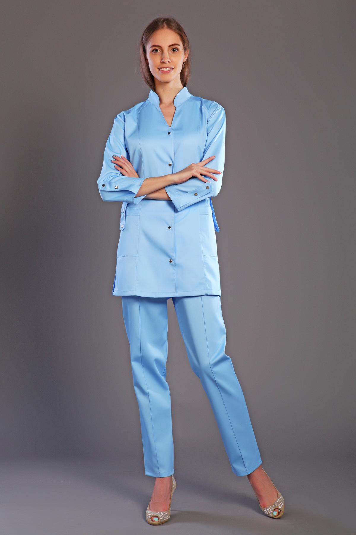 Костюм медицинский женский М-121 ТвилКостюмы, кофты, брюки<br><br><br>Размер: 54