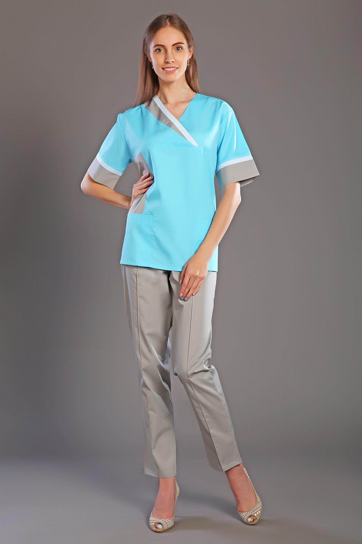 Костюм хирургический женский М-165Костюмы, кофты, брюки<br><br><br>Размер: 56