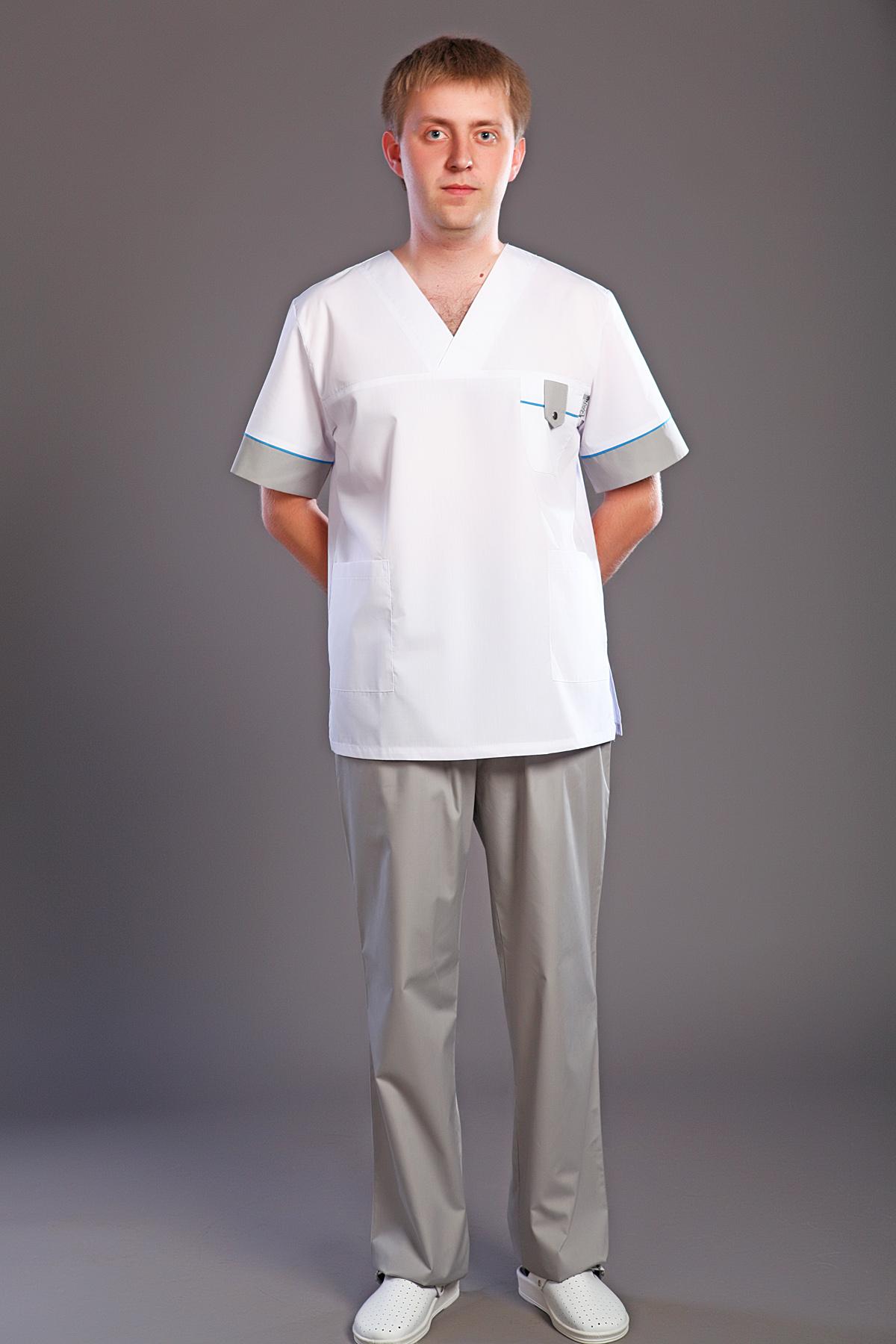 Костюм хирургический мужской М-170-1Костюмы, кофты, брюки<br><br><br>Размер: 44