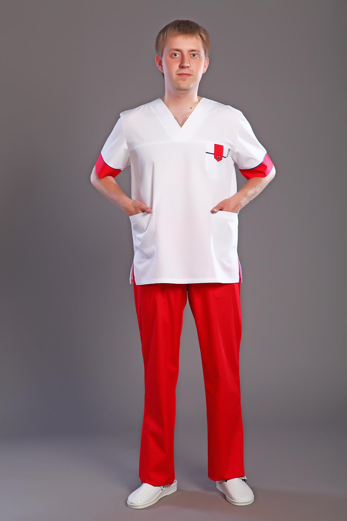 Костюм хирургический мужской М-170Костюмы, кофты, брюки<br><br><br>Размер: 44