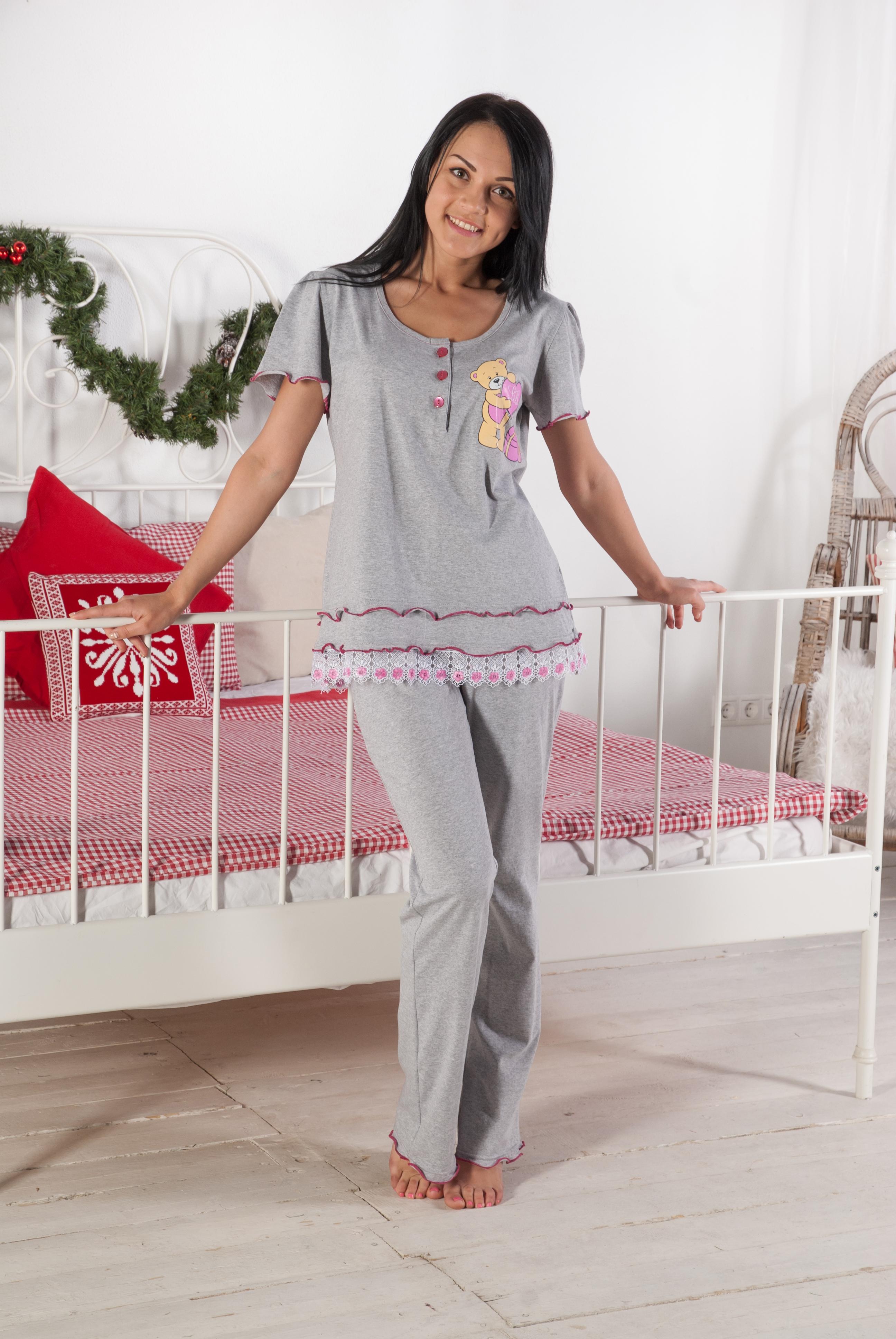 Комплект женский МишуткаКомплекты домашние теплые<br><br><br>Размер: 48