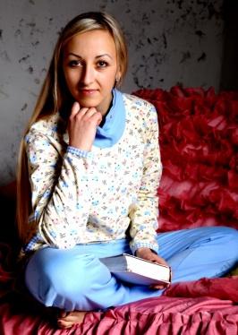 Пижама женская Клёпки кофта+брюкиДомашняя одежда<br><br><br>Размер: Голубой