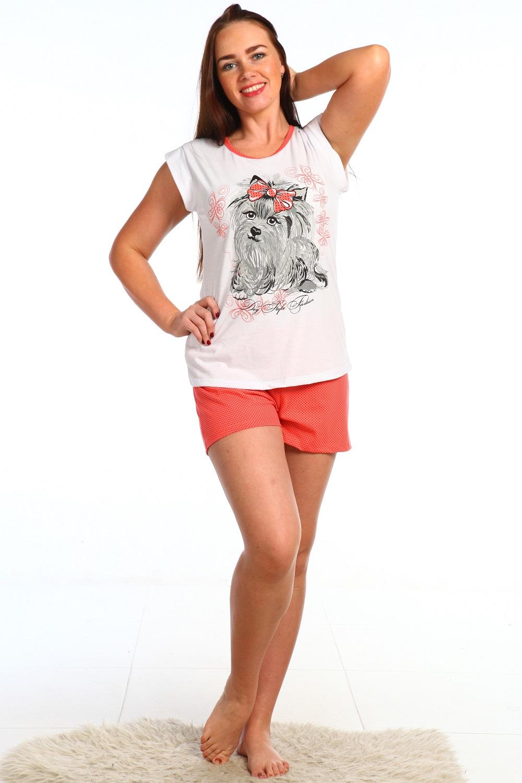Пижама женская майка с шортами АделияПижамы<br><br><br>Размер: 42