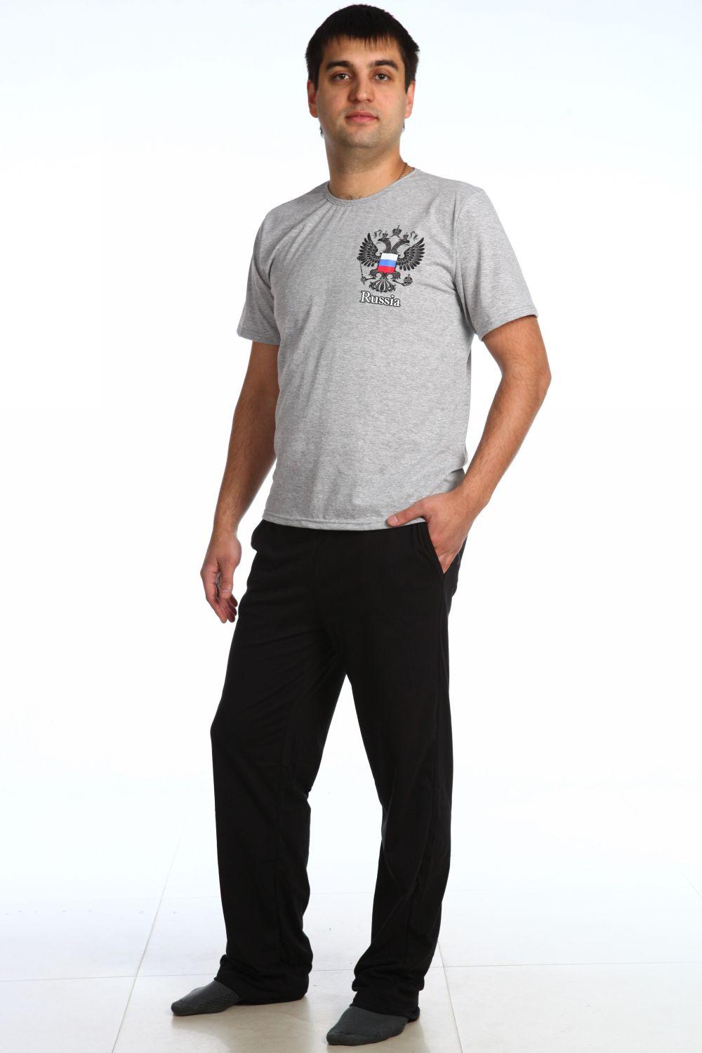 Пижама мужская Гранит майка + брюкиОдежда для сна<br><br><br>Размер: 50