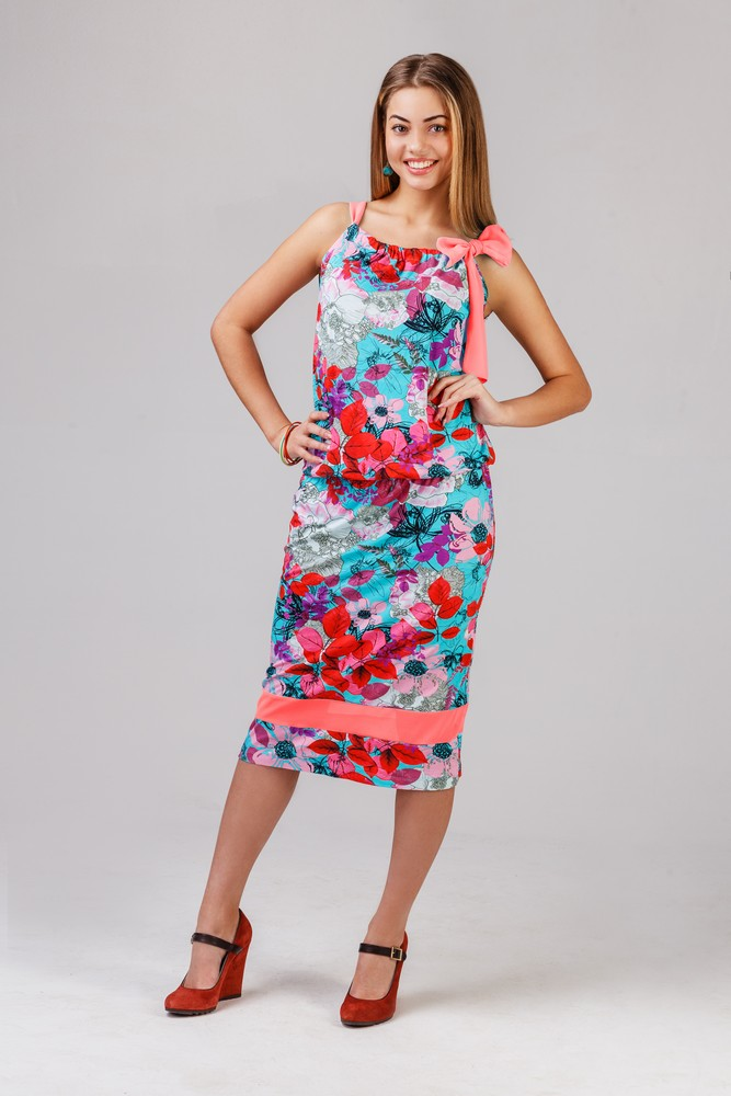 Платье женское БантикПлатья<br><br><br>Размер: 48