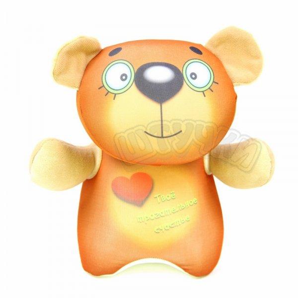 Антистрессовая подушка с мишкой КурносикиПодарки на День рождения<br><br><br>Размер: 24х20