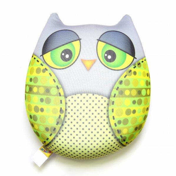 Антистрессовая игрушка-подушка Сова большая 2 (лайм)Детские подушки-антистресс<br><br><br>Размер: 26х29