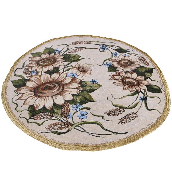 Салфетка гобеленовая Цветок солнцакруглаяСалфетки<br><br>