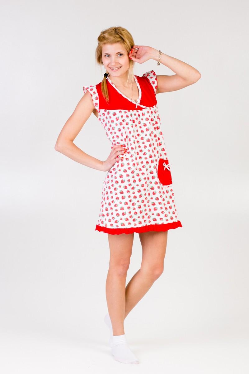 Сорочка женская ДарьяДомашняя одежда<br><br><br>Размер: Красный