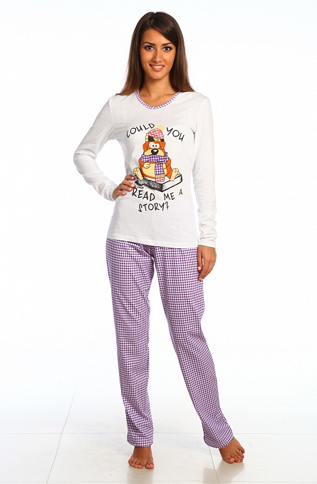 Пижама Пузик (блуза+брюки)Комплекты домашние теплые<br><br><br>Размер: 48