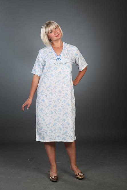 Сорочка женская ВеточкаДомашняя одежда<br><br><br>Размер: 54