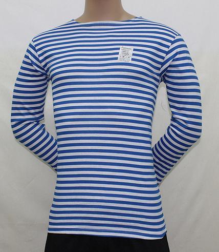 Тельняшка мужская полосатая голубаяДжемперы, свитеры, толстовки<br><br><br>Размер: 50