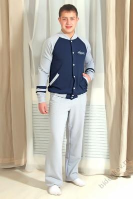 Толстовка мужская БомберДжемперы, свитеры, толстовки<br><br><br>Размер: Синий