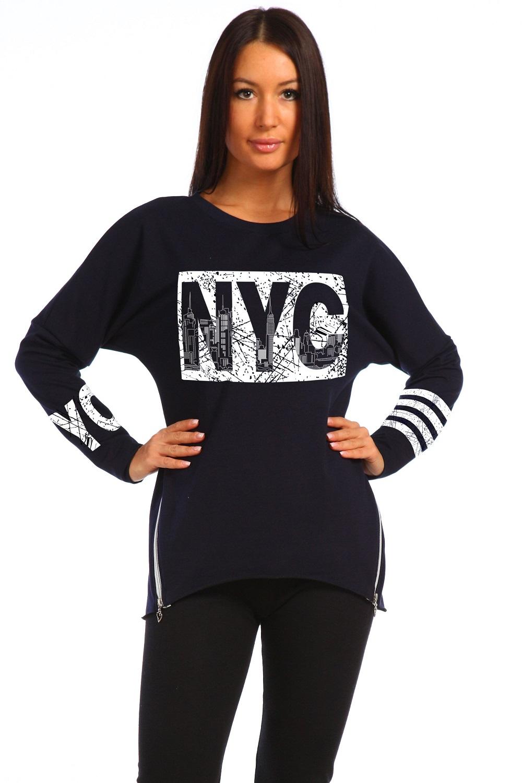 Туника женская с длинным рукавом NYCКоллекция ОСЕНЬ-ЗИМА<br><br><br>Размер: 44