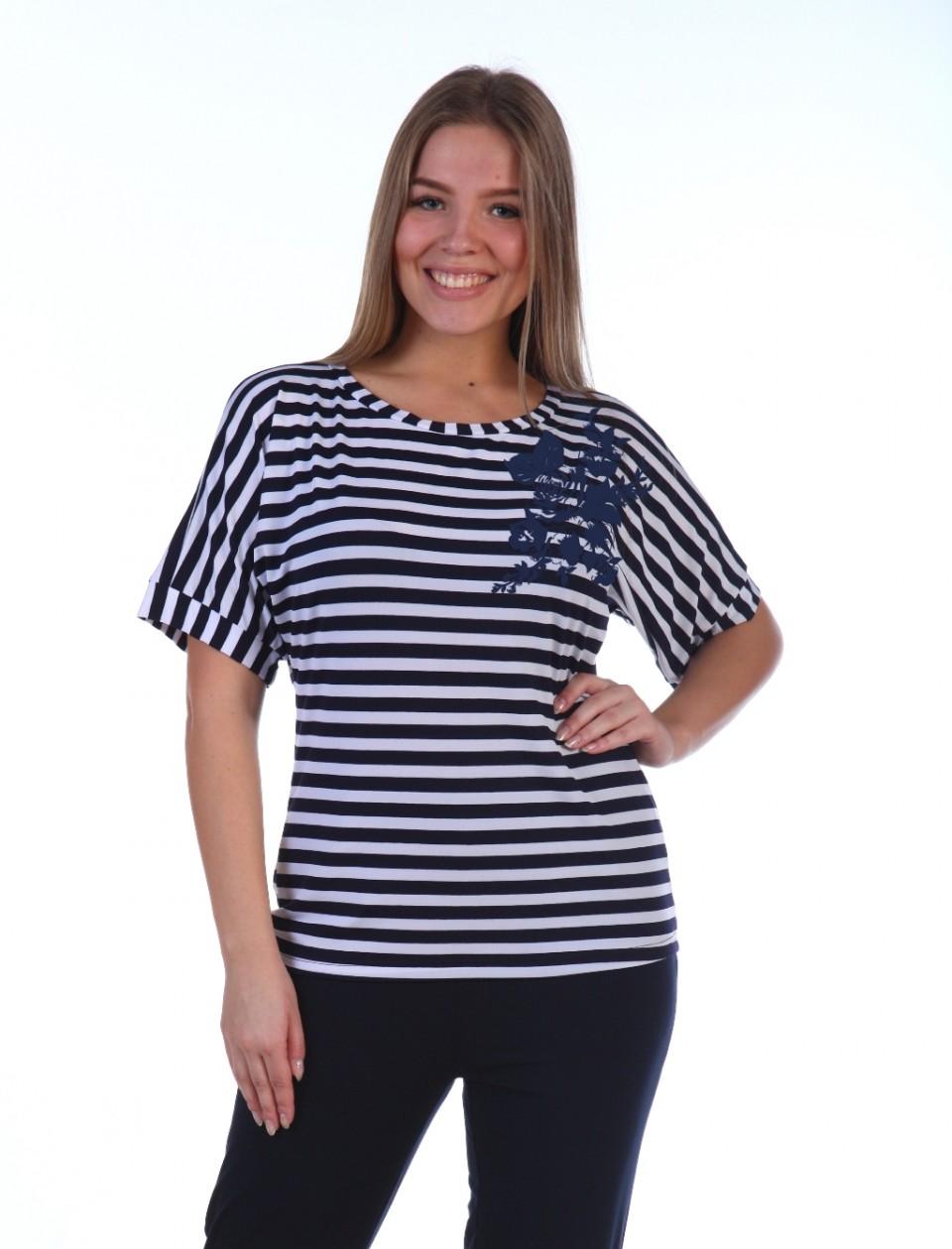 Блуза женская Амина с коротким рукавомБлузы<br><br><br>Размер: 52