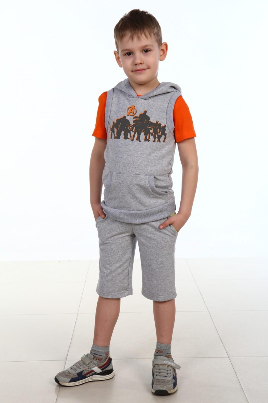 Костюм-тройка детский A-team шорты, жилет и футболкаКомплекты и костюмы<br><br><br>Размер: 38 - рост 146