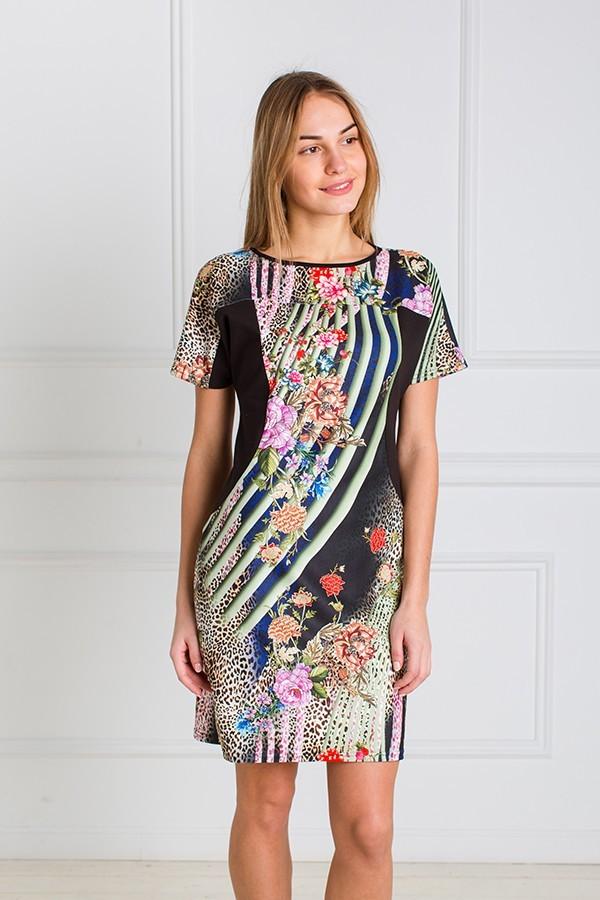 Платье женское Жасмин с коротким рукавомПлатья<br><br><br>Размер: 50
