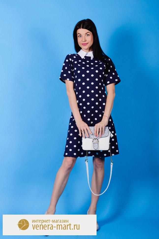 Платье женское Долли со стояче-отложным воротникомПлатья<br><br><br>Размер: 54